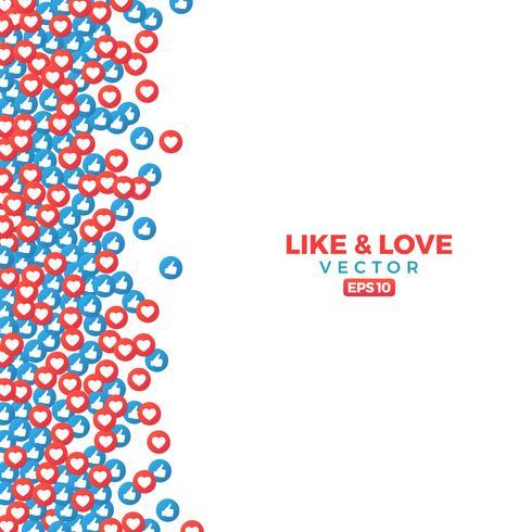 Bunte Liebe und wie Hintergrund vektor