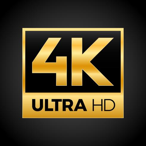 4K Ultra HD-Symbol vektor