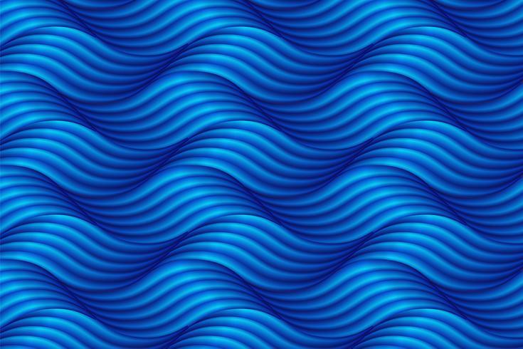 Abstrakter blauer Wellenhintergrund in der asiatischen Art. Vektor illustratio
