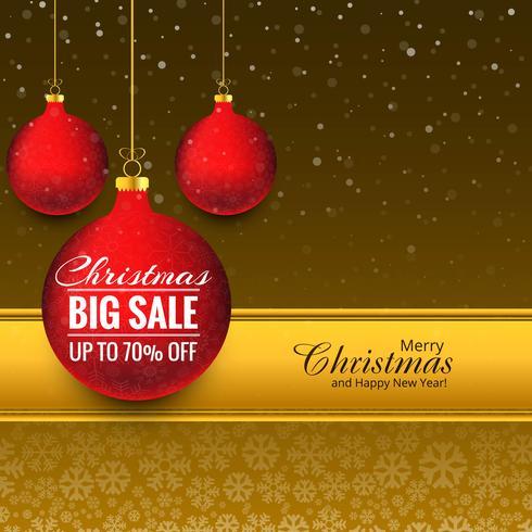 God jul boll stor försäljning bakgrund vektor