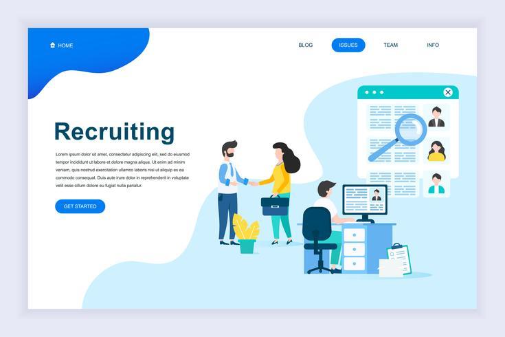 Modernt plandesignkoncept för rekrytering av företag vektor