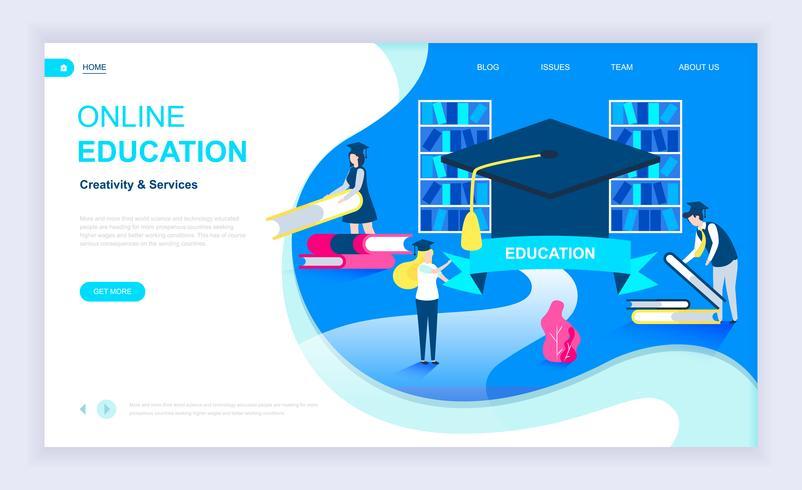 Modernt plattformskoncept för onlineutbildning vektor