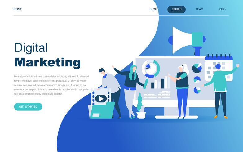 Modernes flaches Designkonzept für digitales Marketing vektor