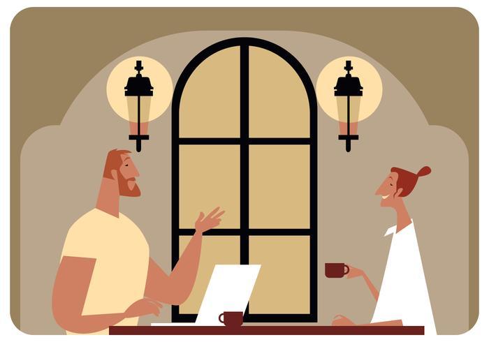 Treffen im Kaffeestube-Vektor vektor