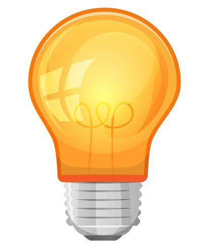 Cartoon-Glühbirne vektor