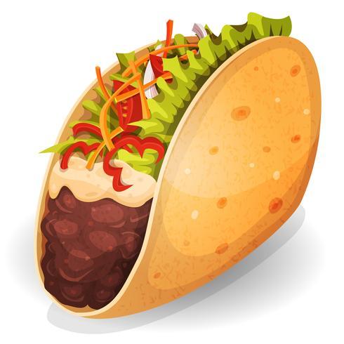 Mexikanische Tacos-Ikone vektor