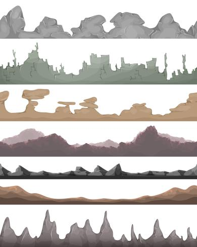 Seamless Landscape Grounds för Game Ui vektor
