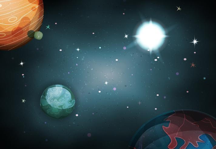 Scifi Space Hintergrund für Ui-Spiel vektor