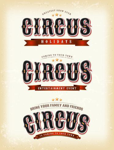 Cirkusbanners På Vintage bakgrund vektor
