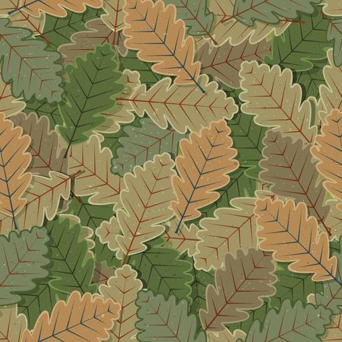 sömlösa ek träd lämnar bakgrund vektor