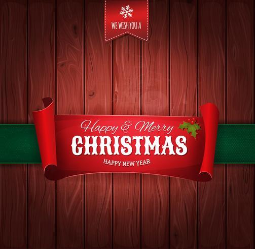Weinlese-Weihnachtsgrüße-Hintergrund vektor