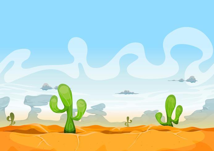 Nahtlose westliche Wüstenlandschaft für Ui-Spiel vektor