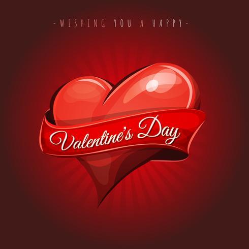 Glad hjärtans dag kärlekskort vektor