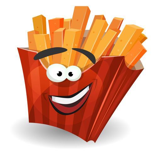 Pommes-Frites-Maskottchen-Charakter vektor