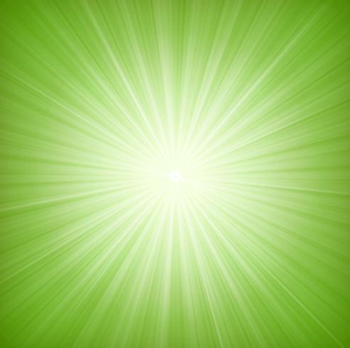Elegant Green Starburst Bakgrund vektor