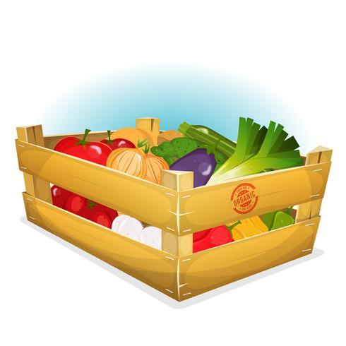 Korg med friska grönsaker vektor