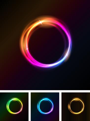 Abstrakte glänzende helle Kreise vektor