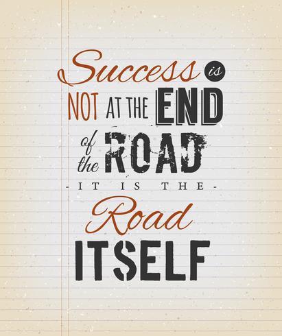 Inspirerande citat om framgång på vintage bakgrund vektor