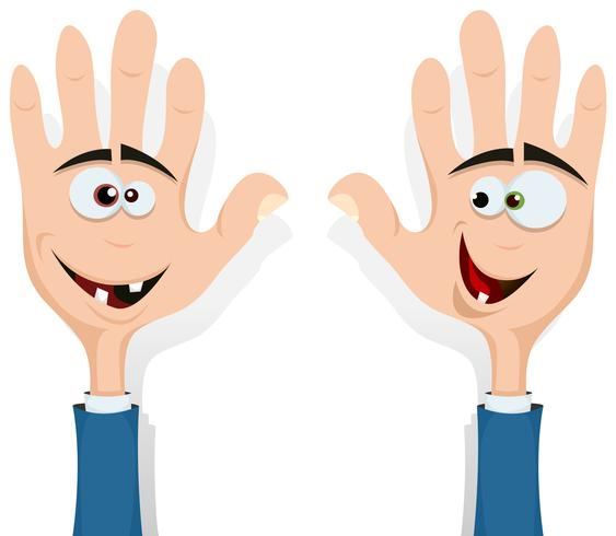Rechte und linke Hand oben! vektor
