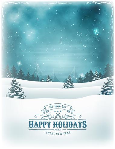 Weihnachtsfeiertage und Neujahr Hintergrund vektor