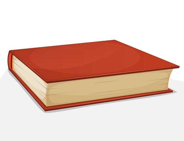 Röd bok isolerad på vit vektor