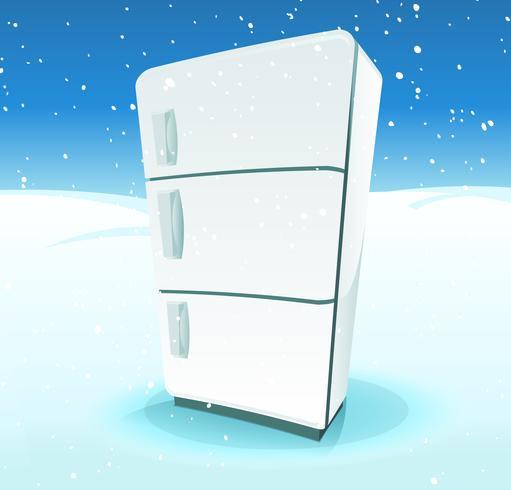 Kylskåp Inne i Nordpolen Landskap vektor
