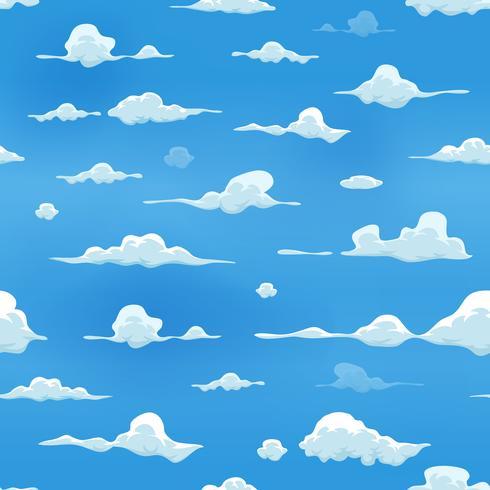 Nahtlose Wolken am blauen Himmel Hintergrund vektor