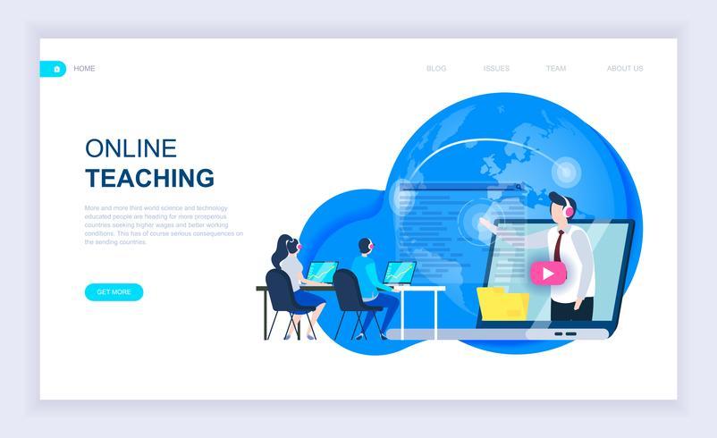 Onlineundervisning Webbanner vektor