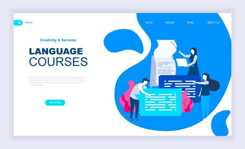 Språkkurser Webbanner vektor