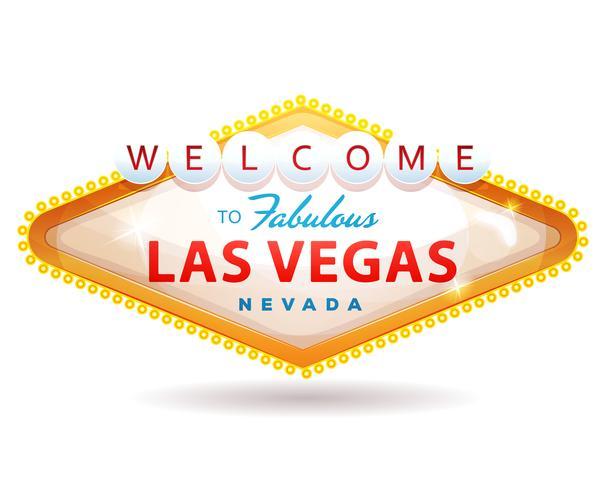 Willkommen bei Fabulous Las Vegas Sign vektor