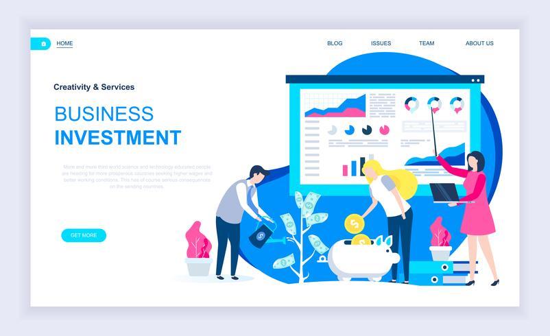 affärsinvesteringar webb banner vektor