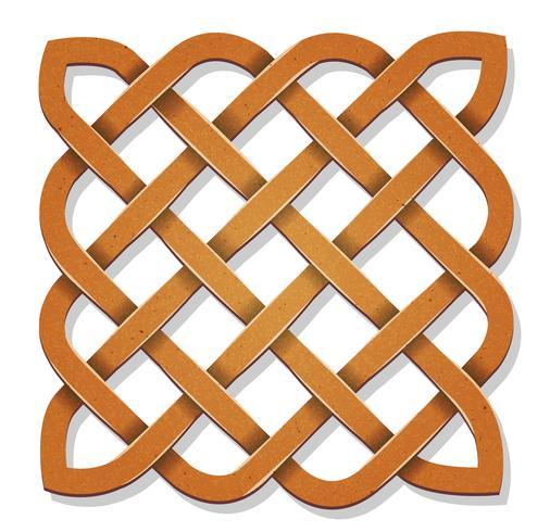 Keltisches Quadrat mit Beschaffenheit vektor
