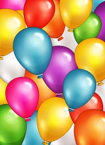 Party Balloons Bakgrund vektor