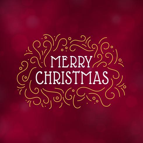Typografiedesign-Vektorillustration der frohen Weihnachten vektor