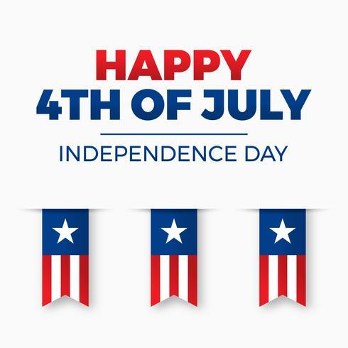 Unabhängigkeitstag Design. Urlaub in den Vereinigten Staaten von Amerika vektor