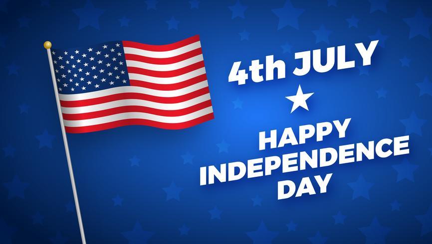 Självständighetsdag design, semester i USA, vektor