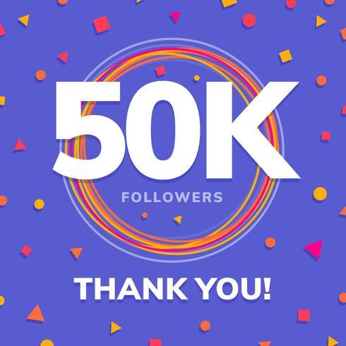 1000 följare, sociala webbplatser post, hälsningskort vektor