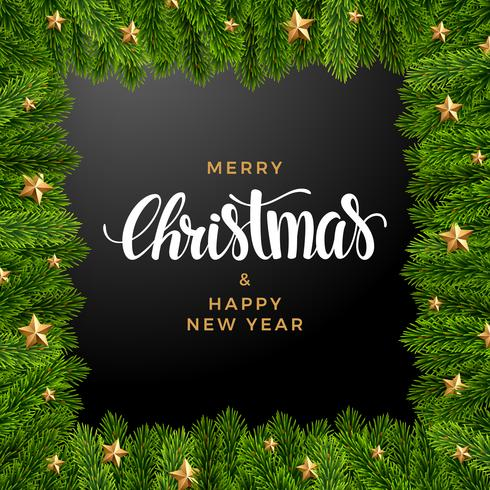 Weihnachtstannenhintergrund, realistischer Blick, Feiertagsdesign vektor