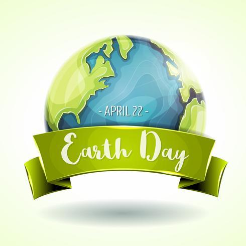 Lycklig Earth Day Banner vektor