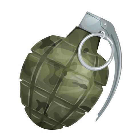 Militärgranate vektor