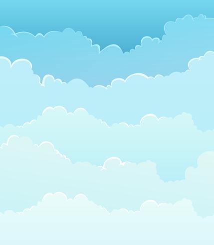 Himmelhintergrund mit Wolkenschichten vektor