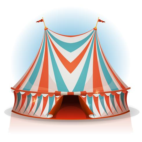 stort topp cirkus tält vektor