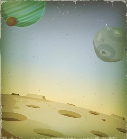 Scifi Grunge Alien Planet Bakgrund vektor