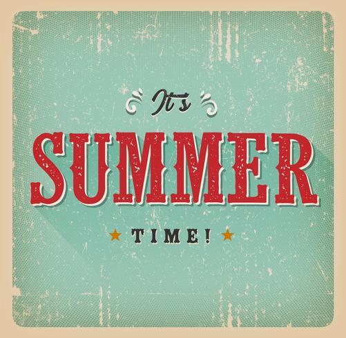 Det är Summer Time Retro Card vektor