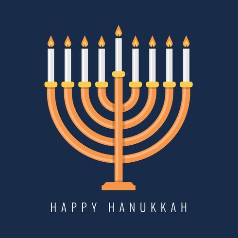 Traditionell Menorah för den judiska Hanukkahfestivalen vektor