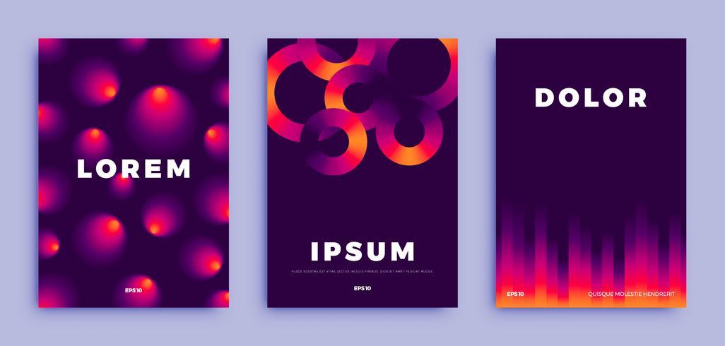 Cover page design, kreativa gradienter bakgrund vektor