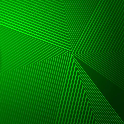 Abstrakte grüne geometrische Linien Hintergrundillustrationsvektor vektor