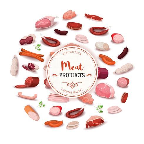 Delikatessenprodukte für Fleischprodukte vektor