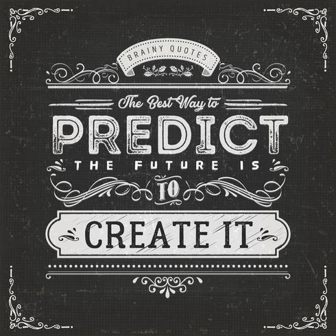 Det bästa sättet att förutse framtida citat vektor