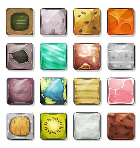 Schaltflächen und Icons für mobile App und Spiel Ui vektor